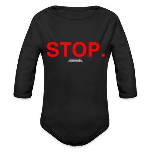 stop - Organic Long Sleeve Baby Bodysuit