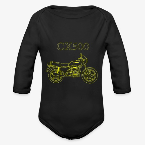 CX500 line drawing - Organic Long Sleeve Baby Bodysuit