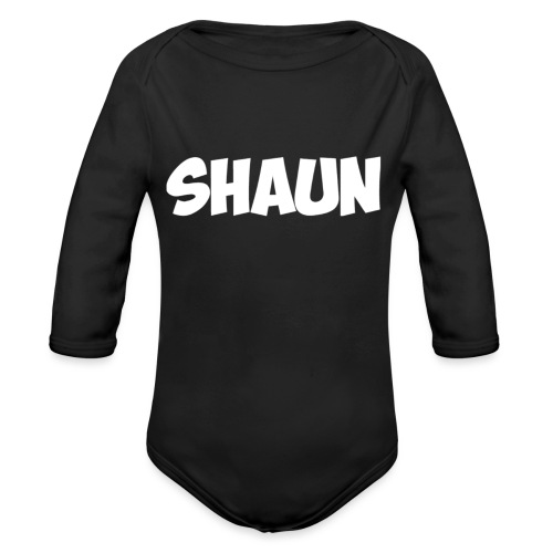 Shaun Logo Shirt - Organic Long Sleeve Baby Bodysuit