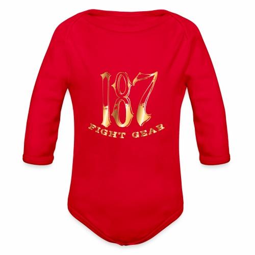 187 Fight Gear Gold Logo Sports Gear - Organic Long Sleeve Baby Bodysuit