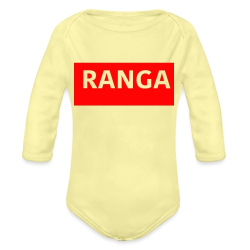 Ranga Red BAr - Organic Long Sleeve Baby Bodysuit