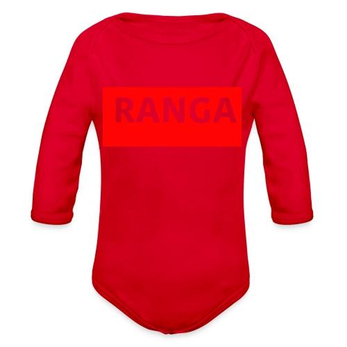 Ranga Red BAr - Organic Long Sleeve Baby Bodysuit