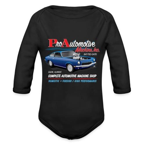 ProAutoTeeDesign062317fin - Organic Long Sleeve Baby Bodysuit