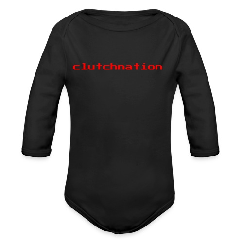 clutchnation merch red video game - Organic Long Sleeve Baby Bodysuit