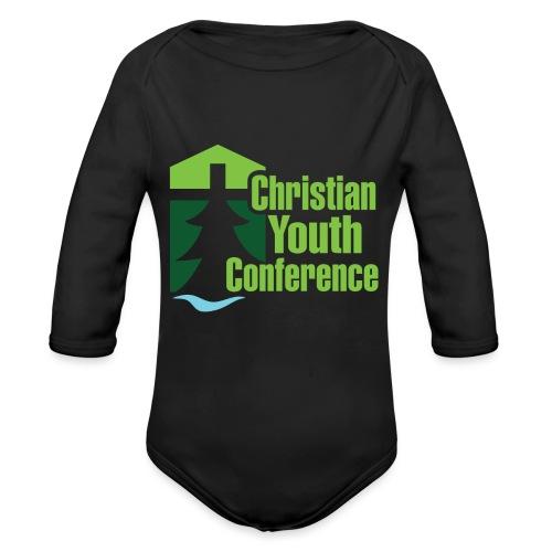 CYC Logo - Organic Long Sleeve Baby Bodysuit