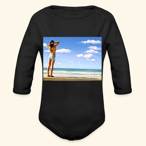 italian style - Organic Long Sleeve Baby Bodysuit