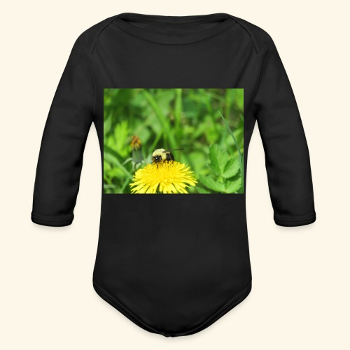 Dandelion Bee - Organic Long Sleeve Baby Bodysuit