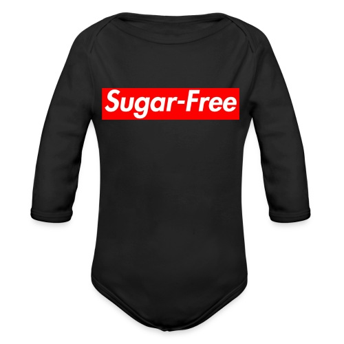 Sugar-Free box logo - Organic Long Sleeve Baby Bodysuit