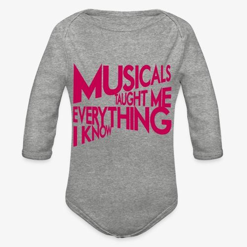 MTMEIK Pink Logo - Organic Long Sleeve Baby Bodysuit