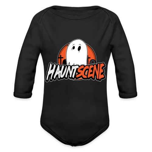 HauntScene Modern Logo 2020 - Organic Long Sleeve Baby Bodysuit