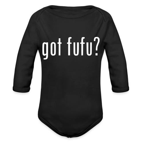 gotfufu-white - Organic Long Sleeve Baby Bodysuit