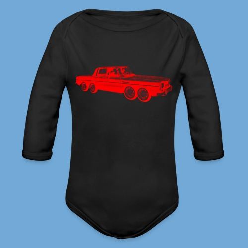 Eight-Wheeled Car - Organic Long Sleeve Baby Bodysuit