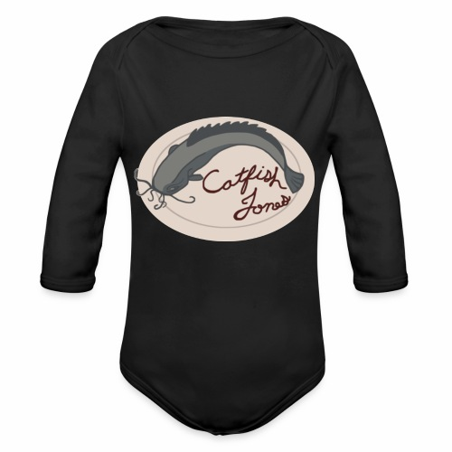 Fish Painting - Organic Long Sleeve Baby Bodysuit