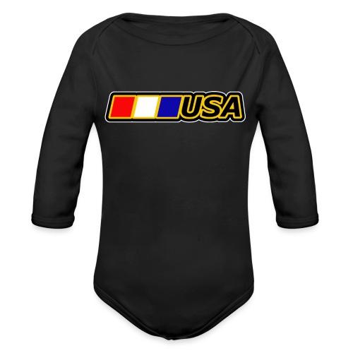 USA - Organic Long Sleeve Baby Bodysuit