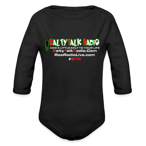 str back png - Organic Long Sleeve Baby Bodysuit