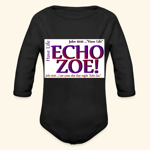 Echo Zoe - Organic Long Sleeve Baby Bodysuit
