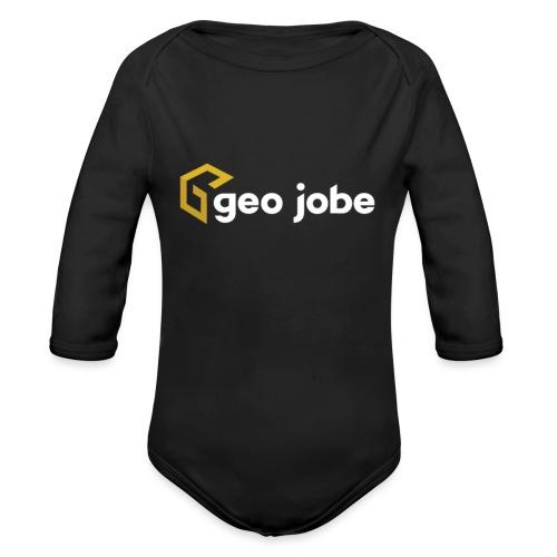 GEO Jobe Corp Logo White Text - Organic Long Sleeve Baby Bodysuit