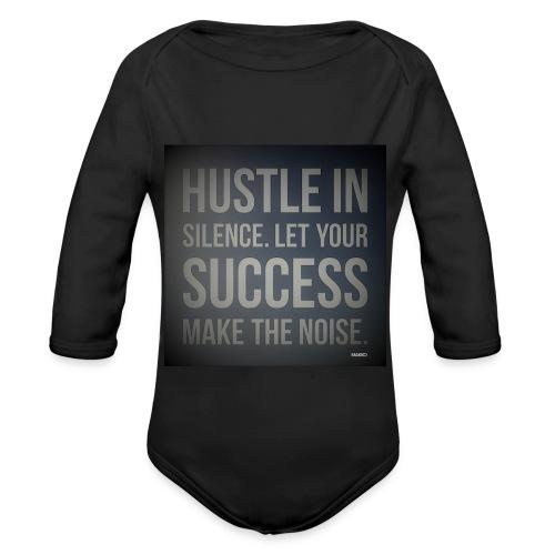 HUSTLE2 - Organic Long Sleeve Baby Bodysuit