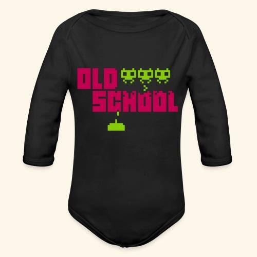 Old School - Organic Long Sleeve Baby Bodysuit