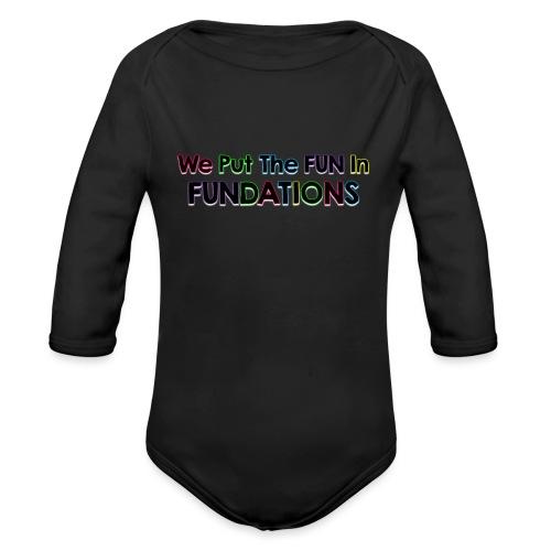 fundations png - Organic Long Sleeve Baby Bodysuit