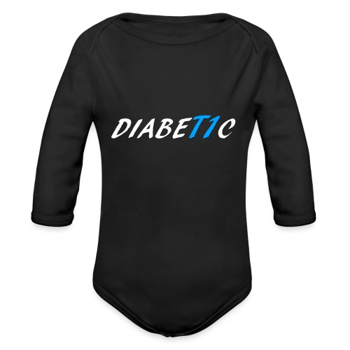 DiabeT1c (white) - Organic Long Sleeve Baby Bodysuit
