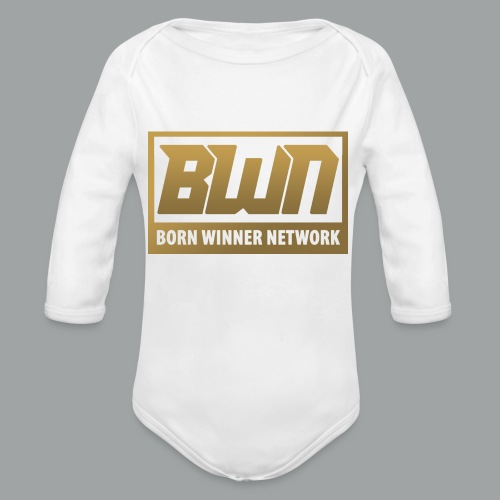 BWN (Gold) - Organic Long Sleeve Baby Bodysuit