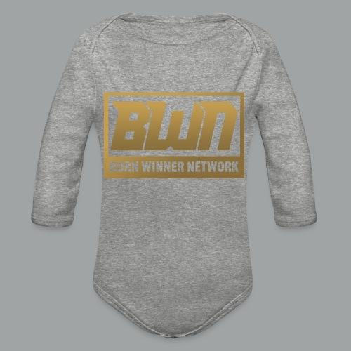 BWN (Gold) - Organic Long Sleeve Baby Bodysuit