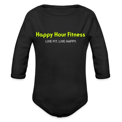HHF_logotypeandtag - Organic Long Sleeve Baby Bodysuit