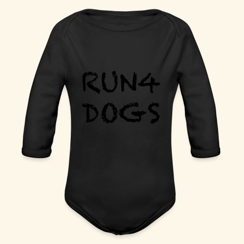 RUN4DOGS NAME - Organic Long Sleeve Baby Bodysuit
