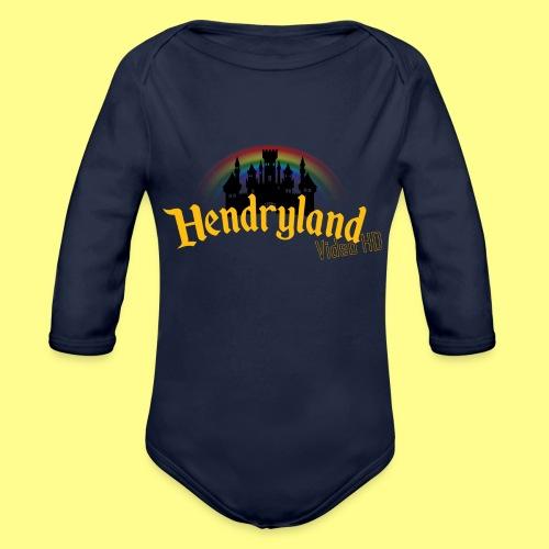 HENDRYLAND logo Merch - Organic Long Sleeve Baby Bodysuit