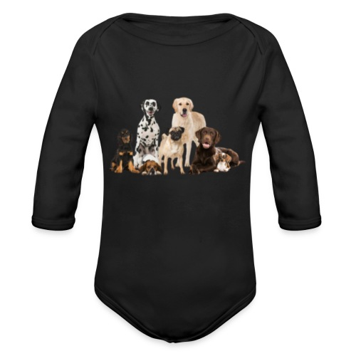 German shepherd puppy dog breed dog - Organic Long Sleeve Baby Bodysuit
