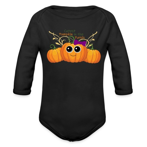 cutest pumpkin - Organic Long Sleeve Baby Bodysuit