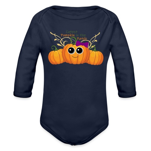 cutest pumpkin - Organic Long Sleeve Baby Bodysuit