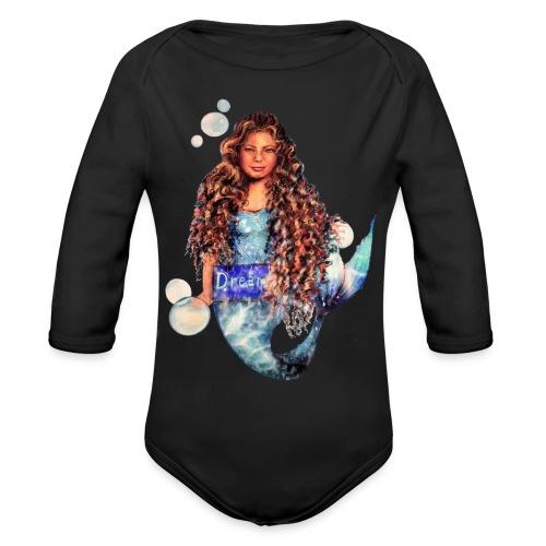 Mermaid dream - Organic Long Sleeve Baby Bodysuit