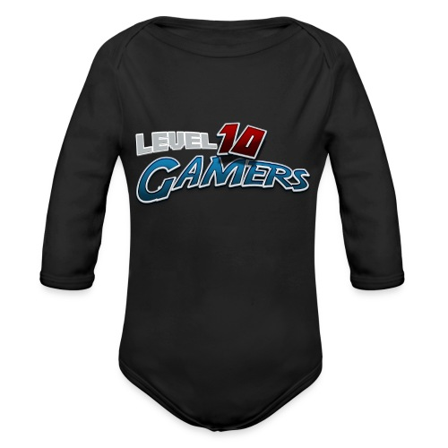 Level10Gamers Logo - Organic Long Sleeve Baby Bodysuit