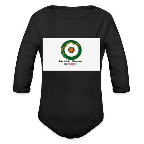 David Doyle Arts & Photography Logo - Organic Long Sleeve Baby Bodysuit