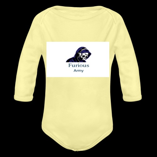 savage hoddie - Organic Long Sleeve Baby Bodysuit