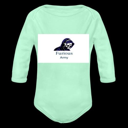savage hoddie - Organic Long Sleeve Baby Bodysuit