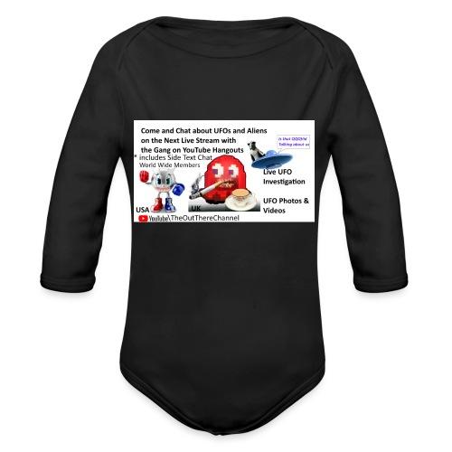 OT Live Stream Tshirt with Crew Back Logo - Organic Long Sleeve Baby Bodysuit