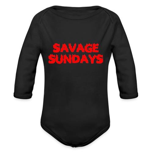 Savage Sundays - Organic Long Sleeve Baby Bodysuit