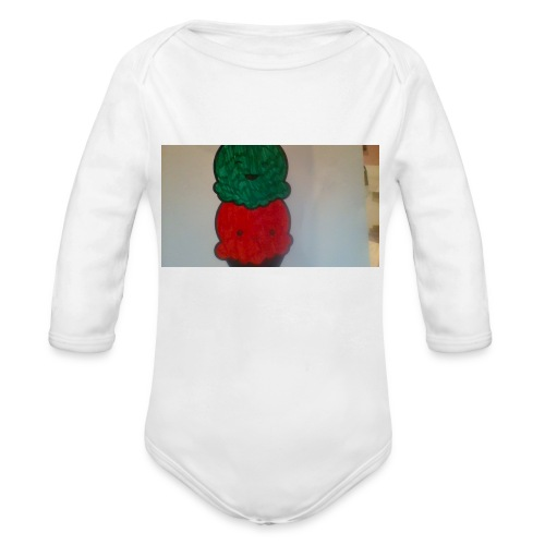 Ice cream t-shirt - Organic Long Sleeve Baby Bodysuit
