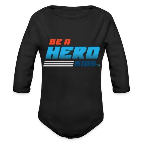 BHK secondary full color stylized TM - Organic Long Sleeve Baby Bodysuit