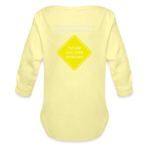 macuseronboard - Organic Long Sleeve Baby Bodysuit