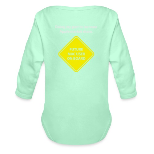 macuseronboard - Organic Long Sleeve Baby Bodysuit