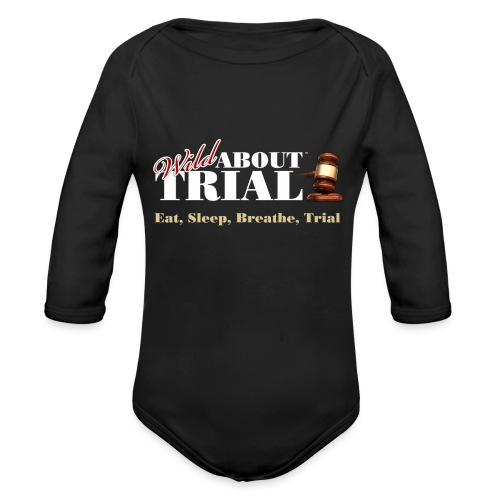 WAT - Eat, Sleep, Breathe, Trial - SALMON EDITION - Organic Long Sleeve Baby Bodysuit