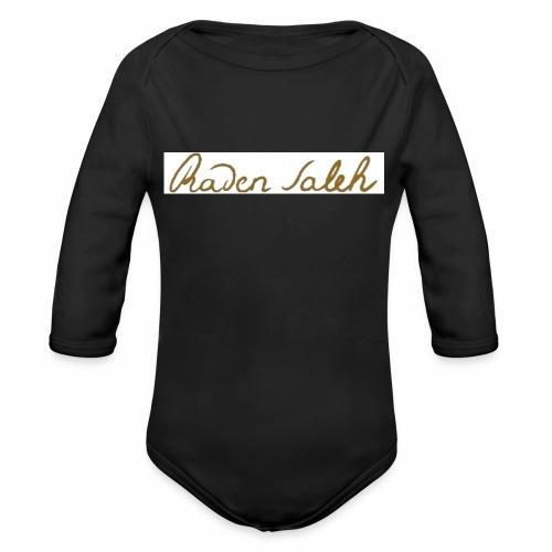 raden saleh signature shirts gross - Organic Long Sleeve Baby Bodysuit