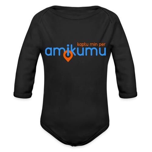 Kaptu min per Amikumu Blua - Organic Long Sleeve Baby Bodysuit