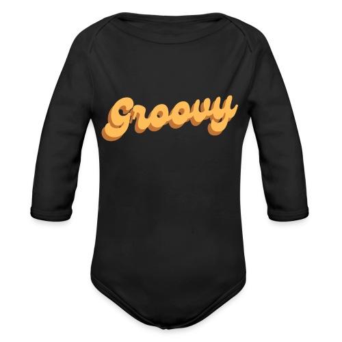 Vintage Groovy - Organic Long Sleeve Baby Bodysuit