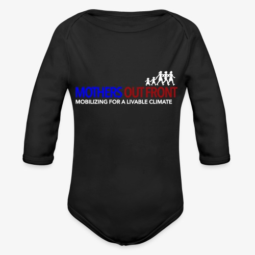 Mothers Out Front Logo - Organic Long Sleeve Baby Bodysuit