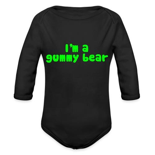 I'm A Gummy Bear Lyrics - Organic Long Sleeve Baby Bodysuit
